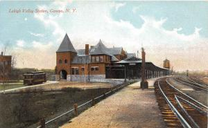 D91/ Geneva New York NY Postcard c1910 Lehigh Valley Railroad Depot Station 17