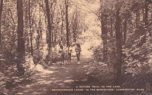 Massachusetts Cummington A Nature Trail To The Lake Meadowbrook Lodge In the ...