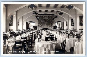 BYRON HARMON RPPC DINING ROOM CHATEAU INTERIOR LAKE LOUISE CANADIAN PACIFIC RR
