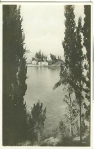 Greece, Corfu, Toteninsel, unused real photo Postcard
