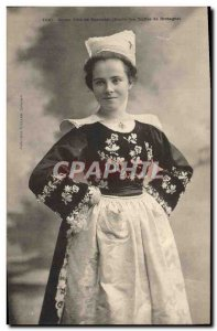 Old Postcard Folklore Young girl of Bannalec