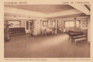 Chargeurs Reunis , Ligne de L'Indochine ,   Music & Dancing Room , 1930s