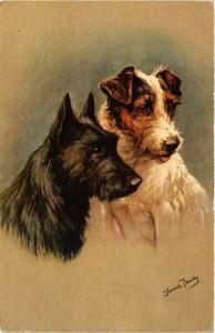 CPA Foxi and Scottish terrier DOGS (727769)