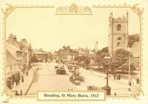 Vintage 1912 Reproduction Postcard, St Mary Butts, Reading, Berkshire 34U
