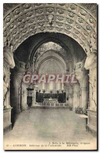 Postcard Old Avignon (Vaucluse) Interior of the Cathedral
