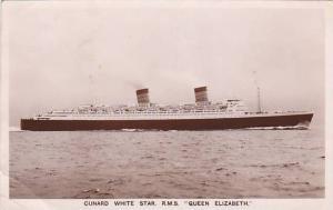 RP, Oceanliner/Steamer/Ship, Cunard White Star, R.M.S. Queen Elizabeth, PU-...