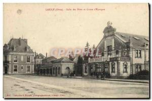 Postcard Former Bank Laigle Hall of festivities and Caisse d & # 39Epargne