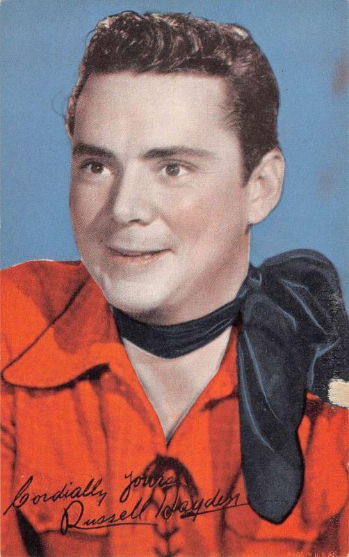 Russel Hayden Cow Boy Tradecard Antique Postcard K7876624