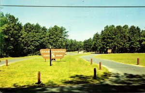Maryland Worcester County Shad Landing State Park Welcome Sign On The Pocomok...