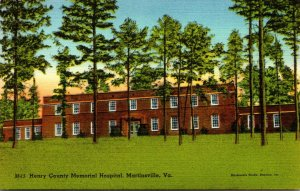 Virginia Martinsville Henry County Memorial Hospital