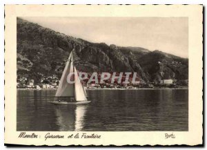 Modern Postcard Menton Garavan and Border Boat
