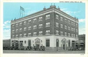 Rolla Missouri~Hotel Edwin Long and Coffee Shop~1931 Bluesky Postcard