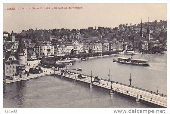 Bridge, Neue Brücke Und Schweizerhofquai, LUZERN, Switzerland, 1900-1910s