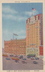 Illinois Chicago Hotel Atlantic Curteich
