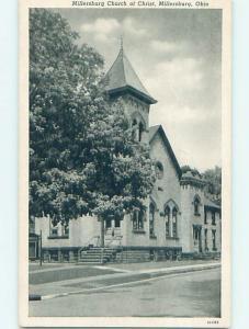 Unused Divided-Back CHURCH SCENE Millersburg Ohio OH p5061