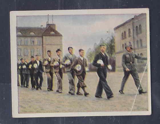 GERMANY TOBACCO CARD WWI 6x5 cms. RECRUITING AAD5149