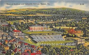 View of Stadium and Lafayette College Easton, Pennsylvania, PA, USA Stadium U...