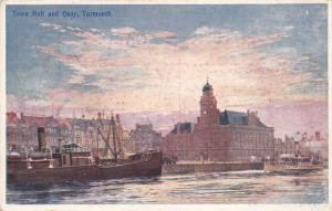 YARMOUTH , Norfolk , England , 00-10s; Town Hall & Quay , Ships