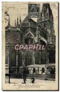 Old Postcard Caen Apse of The Church of St Peter