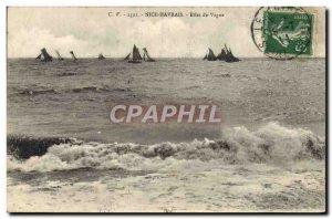 Postcard Old Nice Havrais Wave Effect Ships