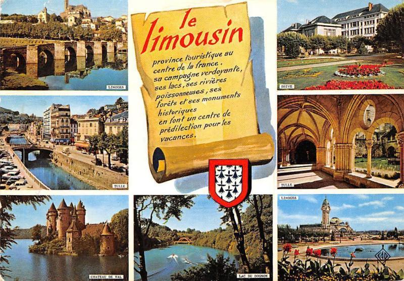 France Le Limousin multiviews Limoges Tulle Chateau de Val Lac du Dognon