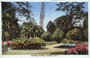 Botanical Gardens, Trinidad, B.W.I., early Postcard, Used in 1939