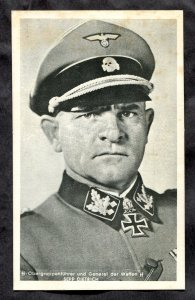 5309 - GERMANY 1960s Reprint of Postcard. SS General Sepp Dietrich. Iron Cross