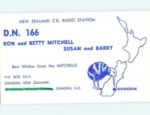 Pre-1980 RADIO CARD - CB HAM OR QSL Dunedin New Zealand Australia AH3132