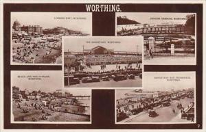 England Worthing Multi View REal Photo