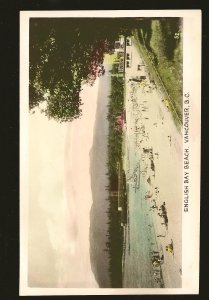 English Bay Beach Vancouver BC Gowen Sutton Unposted Postcard