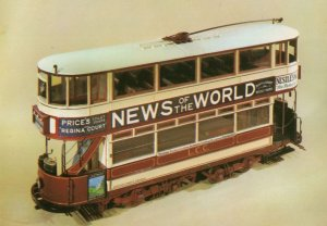 News Of The World Tramcar Bus Toy Model Postcard