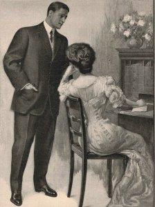 1907 Original Print Ad Hart Schaffner Marx Cloths Woman Writing Desk 2P1-6 e et
