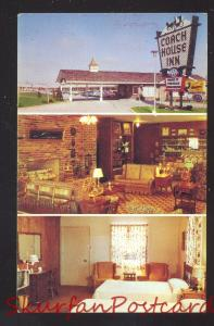 SPRINGFIELD MISSOURI COACH HOUSE INN ROUTE 66 VINTAGE ADVERTISING POSTCARD