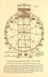 Oldest Ferris Wheel National Postcard Week Raliegh NC North Carolina 1995