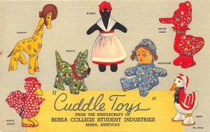 Berea KY Cuddle Toys ORIGINAL Curt Teich Advertising Postcard