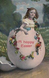 EASTER , 00-10s ; Girl pops out of Giant Egg