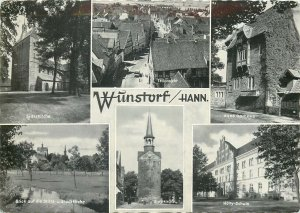 Germany Wunstrof old sites multiview Postcard