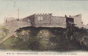 Boulogne Sur MER , France , 00-10s : Le Calvaire des marins sur la falaise!