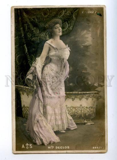 175668 DECLOS Cigale French DANCER Actress Vintage photo PC
