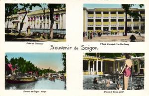CPA Vietnam Indochine COCHINCHINE - Souvenir de Saïgon (62635)