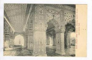 Interior view of Diwan-i-Khas, Delhi, India, 00-10s Marble Throne & centre hall