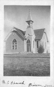 RPPC M.E. Church Pierson, Iowa Vintage Real Photo Postcard 1907