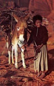 Navajo Lass and her Burro