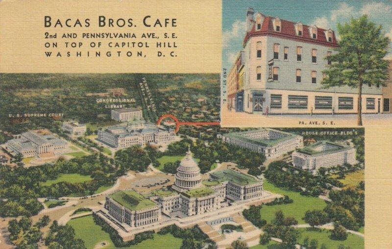 WASHINGTON D.C. , 1930-40s ; Bacas Bros. Cafe
