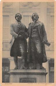 Germany Weimar Goethe und Schiller-Denkmal Statues Monument