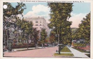 New York Buffalo North Street West Of Delaware Avenue Showing Hotel Lenox