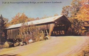 A Picturesque Covered Bridge An Old Historic Landmark Asheville North Carolina