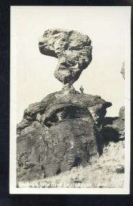 RPPC CASTLEFORD IDAHO BALANCE UNUSUAL ROCK REAL PHOTO POSTCARD CASTLE FORD