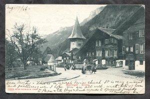 dc140 - SWITZERLAND Meiringen - Kirche. 1906 Street View
