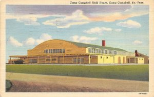 Camp Campbell Kentucky Tennessee 1944 WWII Soldiers Postcard Camp Field House